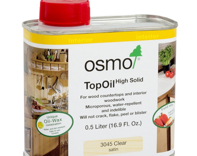 OSMO Food-Safe TopOil High Solid Wood and Resin Finish
