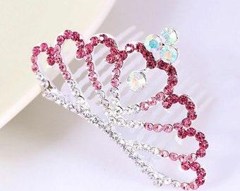 PRINCESS Tiara Pink CRYSTAL TIARA crystal rhinestones