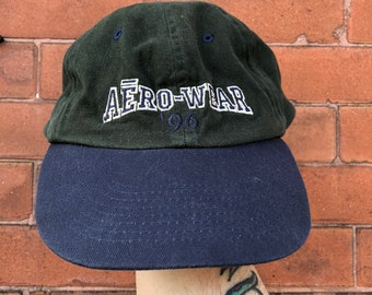 d20038ba928dd Vintage aero wear hat 90 s essential streetwear hip hop 1990s 1980s retro  vibe crack gear addict streetwear wwvse snapback embroidered 90s