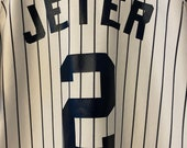Vtg. 90 39 s Derek Jeter New York Yankees Russell Athletic Baseball Jersey Youth Large 14-16. Free Shipping USA