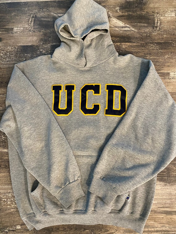 Vtg Russell Athletic UCD Aggie Pullover Hoodie Swe