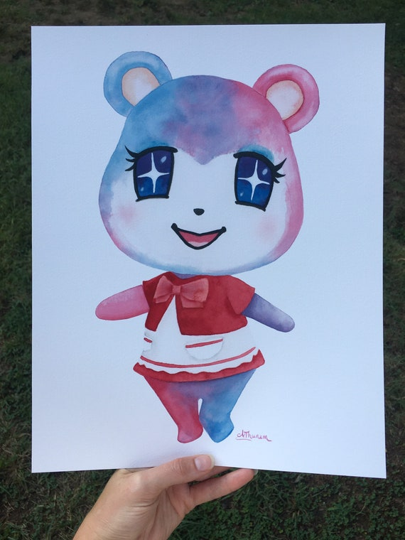 Judy Animal Crossing Print  Animal Crossing New Horizons Watercolor Video Game Character  Animal Crossing Painting