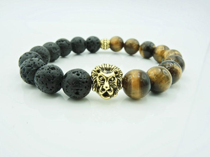 Unisex Bracelet,Summer Bracelet,Woman Bracelet,Men/'s Bracelet,Stone Lava Bracelet,Tiger Eye Bracelet,Leon Bracelet