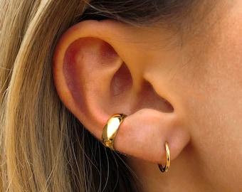 Thick Ear Cuff • ear cuff no piercing • gold ear cuff • ear cuff non pierced • fake helix piercing • ear cuffs • fake piercings