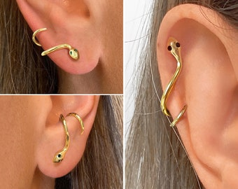 Minimalistic earrings with snake snake earrings boho earrings minimalist earrings with snake