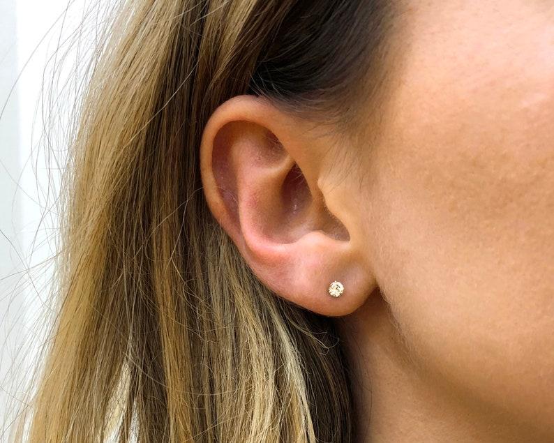 White Studs \u2022 dainty earrings \u2022 tiny stud earrings \u2022 small earrings \u2022 silver stud earrings \u2022 minimalist earrings
