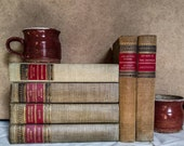 Vintage Classics Club Decorative Book Set, Mid-Century Home Decor, Mid Modern Home
