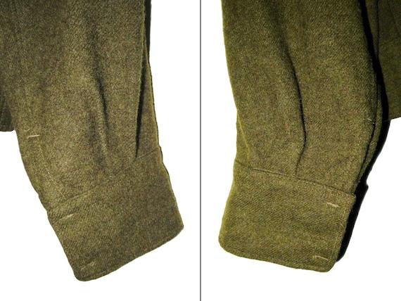 50s Vintage Royal Canadian Army Wool Battledress … - image 10