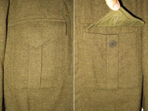 50s Vintage Royal Canadian Army Wool Battledress … - image 3