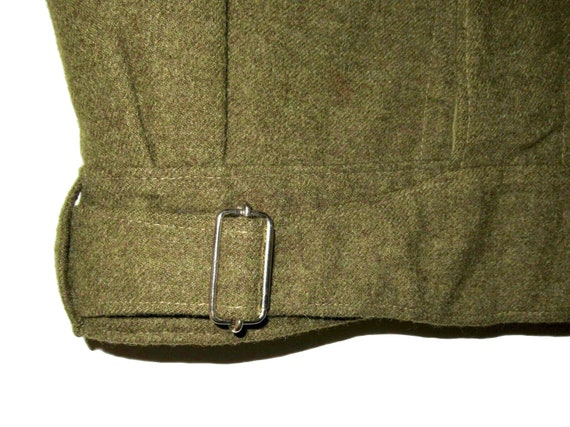 50s Vintage Royal Canadian Army Wool Battledress … - image 5