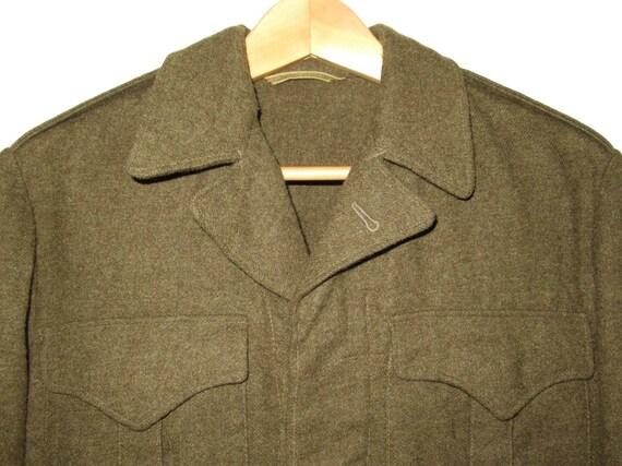 50s Vintage Royal Canadian Army Wool Battledress … - image 2