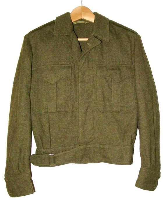 50s Vintage Royal Canadian Army Wool Battledress … - image 1