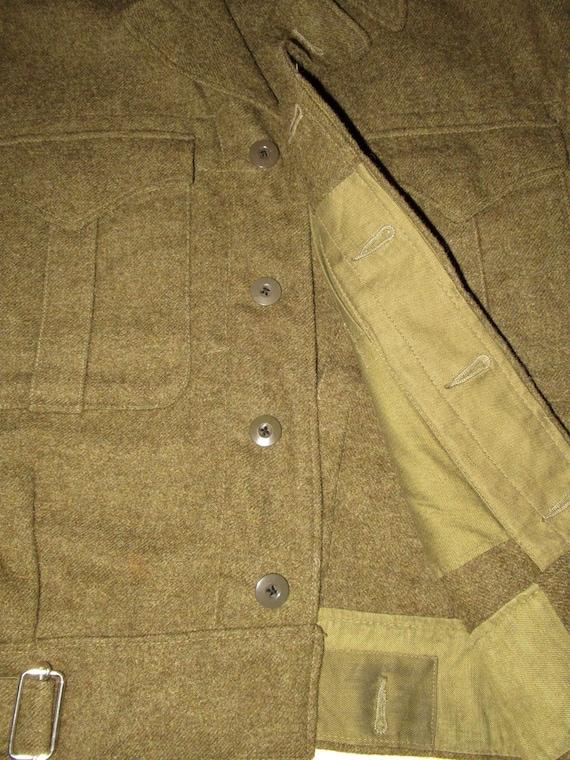 50s Vintage Royal Canadian Army Wool Battledress … - image 6