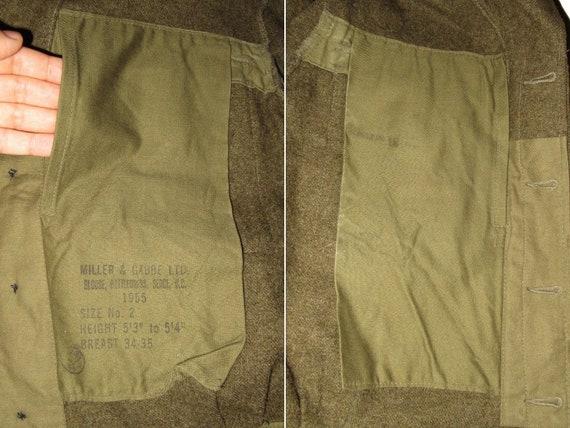50s Vintage Royal Canadian Army Wool Battledress … - image 7