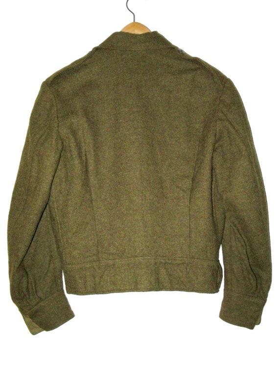 50s Vintage Royal Canadian Army Wool Battledress … - image 8