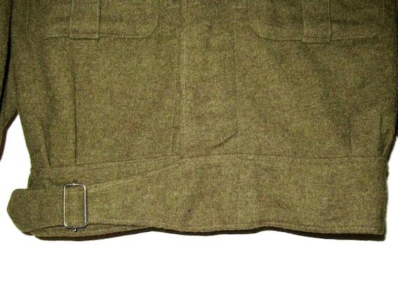 50s Vintage Royal Canadian Army Wool Battledress … - image 4