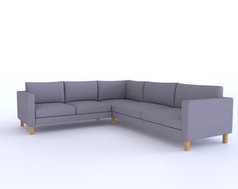 Whole Set Replace Cover Fits IKEA Karlstad 2+3/3+2 Sectional Sofa, or Fits Karlstad 3+3 Sectional Sofa, Corner Sofa Cover