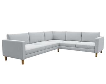 Whole Set Karlstad Corner Sofa Cover, Custom Made Cover Fits IKEA Karlstad 2+3 / 3+2 Corner Sofa, Sectional Sofa Cover