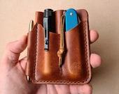 EDC Wallet Organizer, Edc Gear Organiser, Edc Pocket Organizer, Edc Leather Pouch, Leather Pocket Slip, Front Pocket Organizer, Gift for Him