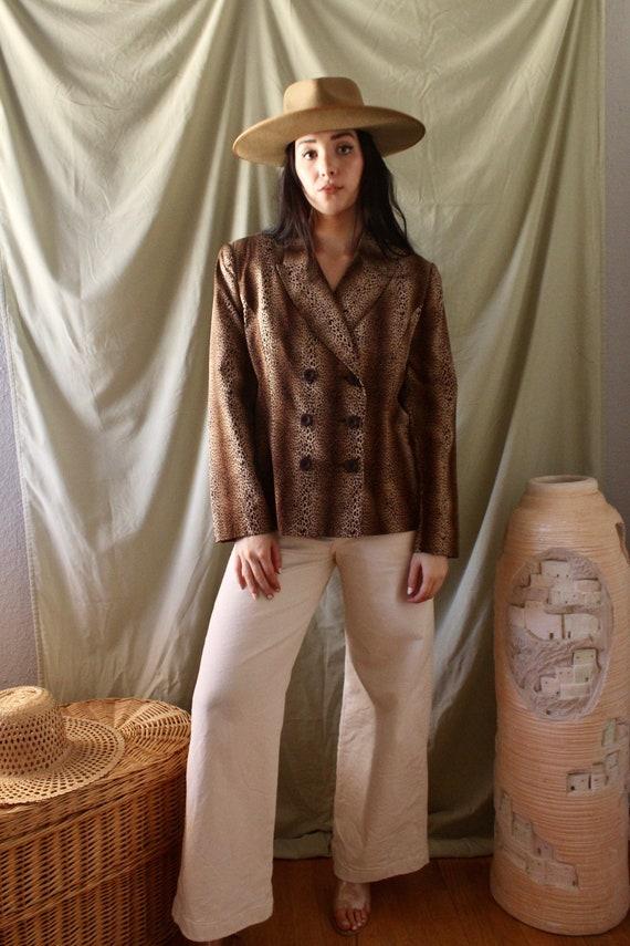 Vintage Cheetah Blazer