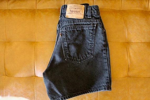 Black Denim Shorts Levi's