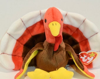 7a9717ec5b1 HTF Super Rare 1996 TY Gobbles the Turkey Beanie Baby MINT Condition