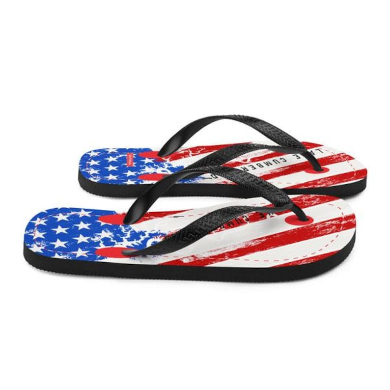 Lake Flip Flops Boat Flip Flops Boat Shoes American Flag Lake Cumberland 4th of July Flip Flops