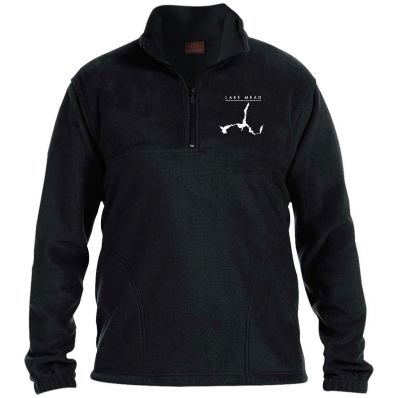 Lake Mead Map Embroidered Men/'s 14 Zip Fleece Pullover Warm Clothes, Winter Clothes