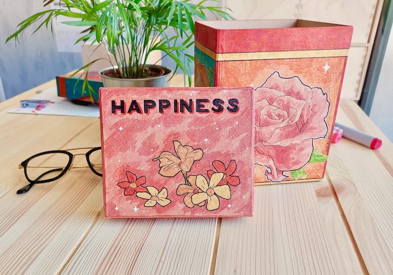 Magic Flowers Happiness Happiness Jewelry Box Storage Box ORIGINAL