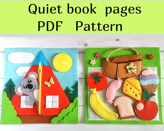 45 Free Quiet Book Templates Pages The Yellow Birdhouse 5