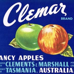 Vintage Tasmanian Apple Box Labels Port Huon Brand Special Price 12 Labels
