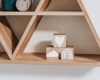 Wooden Nursery Blocks, Nursery Decor, Children's Room Decor, Baby Shower Gift