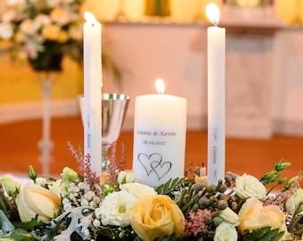 Wedding Unity Candles -Personalised