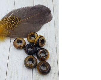 labradorite Gemstone Dreadlock bead set of 2 Dread Jewelry Accessories