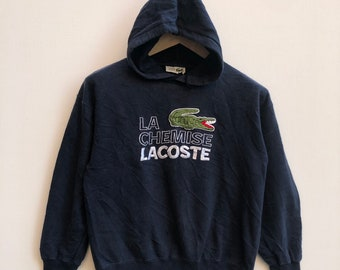 9013b2100b83 La Chemise Lacoste Hoodie Pullover Big Embroidered Logo Rare Street Wear  Hip Hop Skate  0537-15