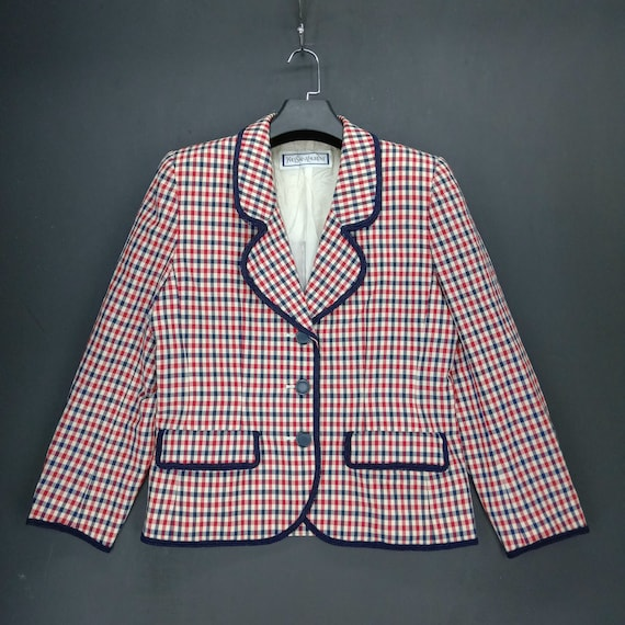 Vintage Yves Saint Laurent YSL Checked Casual Jack