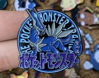Dialga Pokemon Diamond Pocket Monsters Emblem Custom Enamel Pin, Pins, Pin Badge, Enamel Pins, Custom Enamel Pins, Limited Edition Pins, Bag