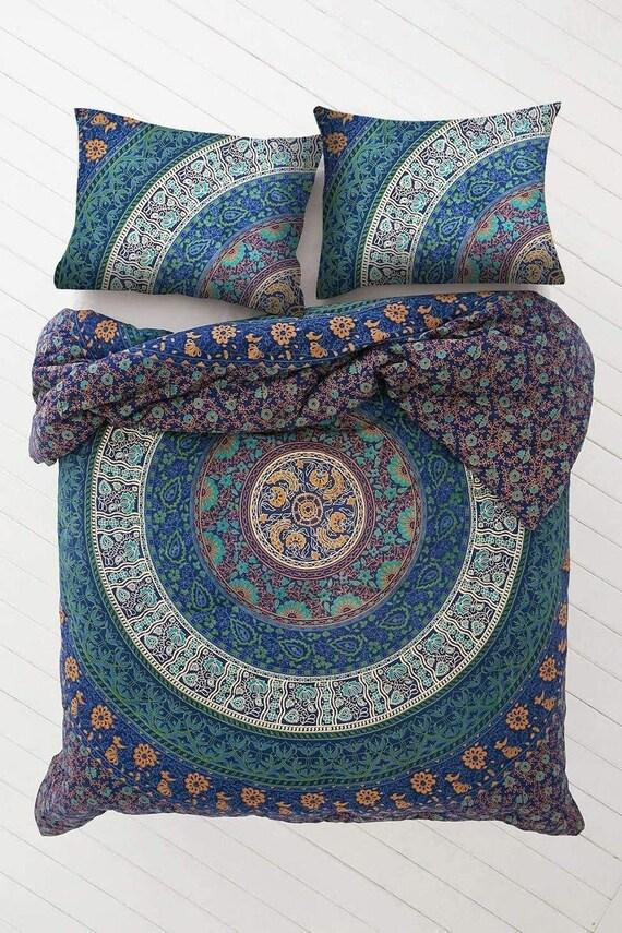 Boho Tie Dye Duvet Quilt Cover Set Full Queen Doona Comforter Covers Pillowcases