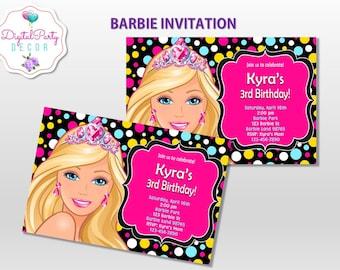 Barbie Birthday Invitations
