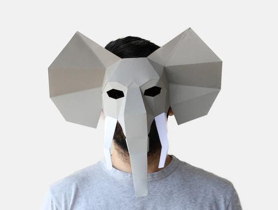 New Year/'s Eve Mask Low Poly Masks Bull Mask Minotaur Mask Instant Pdf download Halloween Mask DIY printable Animal Head