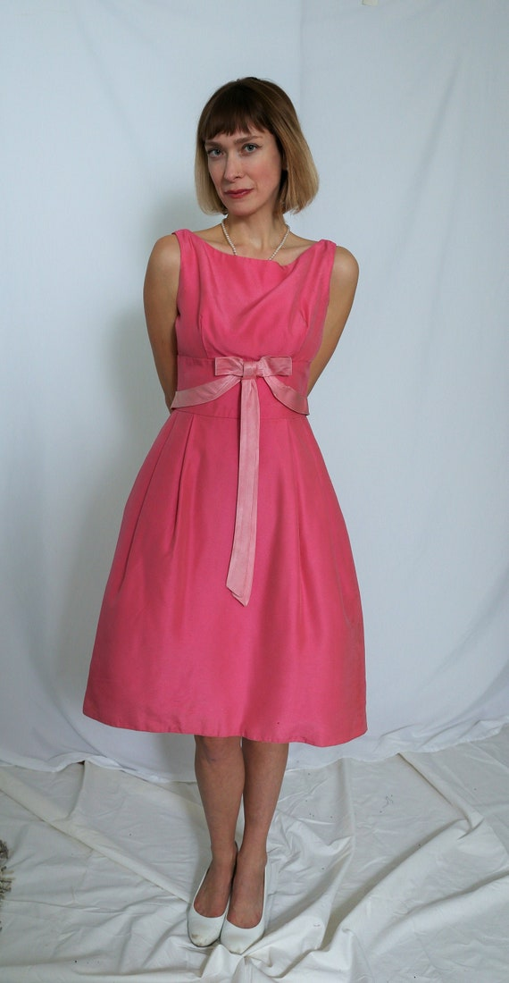 VINTAGE 1950's 1960's hot pink cocktail/evening/ p