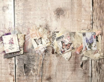 Fabric Clusters set of 4 - Junk Journal