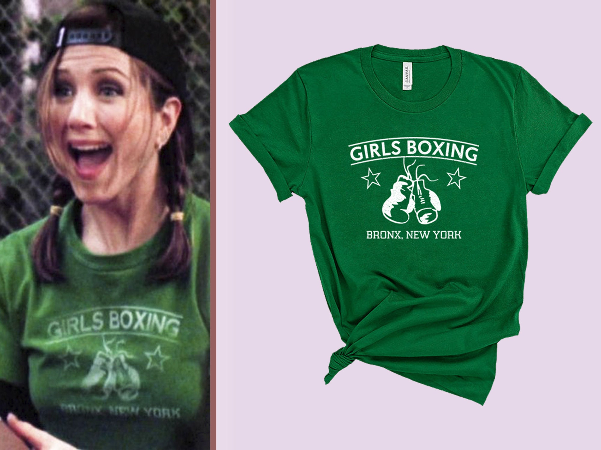 Rachel Green Girls Boxing T-shirt Friends Tv Show Shirt Rachel Green Clothing Friends Merch Womens Shirts Bella Canvas Unisex Tee Unisex Tshirt