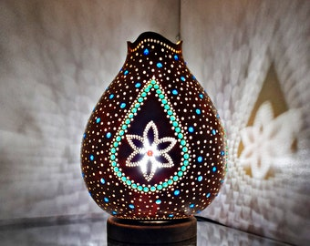 Decorative Water Drop Handmade Gourd Lamp Calabash Housewarming Mother/'s Day Gift Bithday Gift Turkish Lamp Home Living Room Nursery Decor