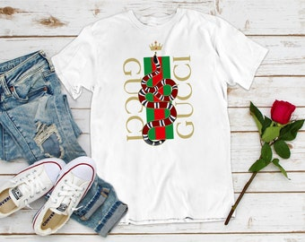 912b48ec Gucci Aesthetic Gucci Inspired Tumblr T-Shirt Unisex White Tee Gucci  Vintage Shirt Best Friend Gift Gucci Brand T-Shirt For Girl SL0014