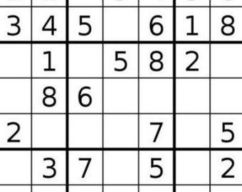 photograph relating to Mega Sudoku Printable named Demanding sudoku puzzles Etsy