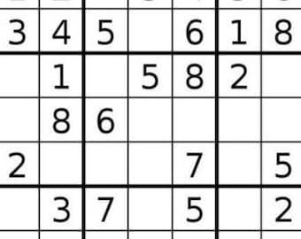 graphic relating to Sudoku Printable Hard named Sudoku printable Etsy