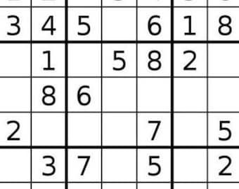 graphic relating to Sudoku Printable Hard named Sudoku printable Etsy
