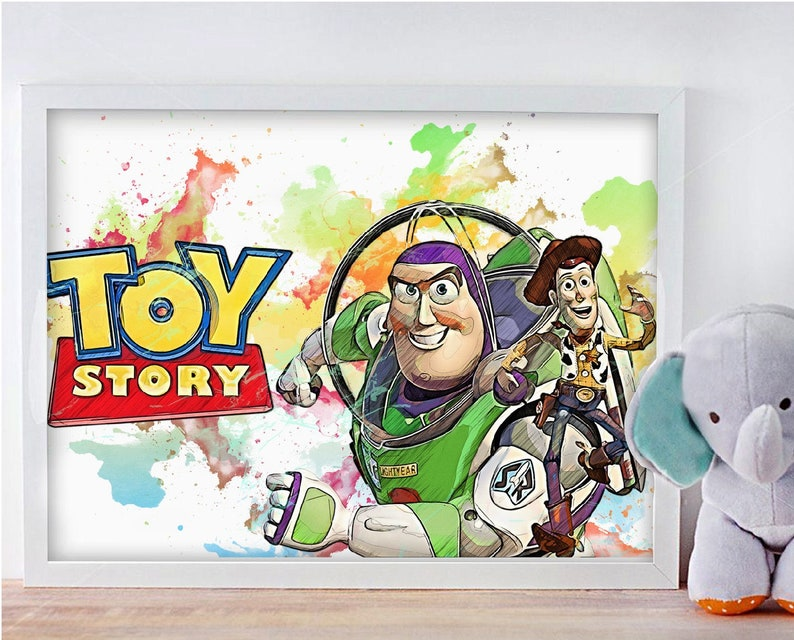 Lightyear x Woody Instant Download Digital Printable Art Print Toy story Birthday Party Decor Nursery Poster no.0254