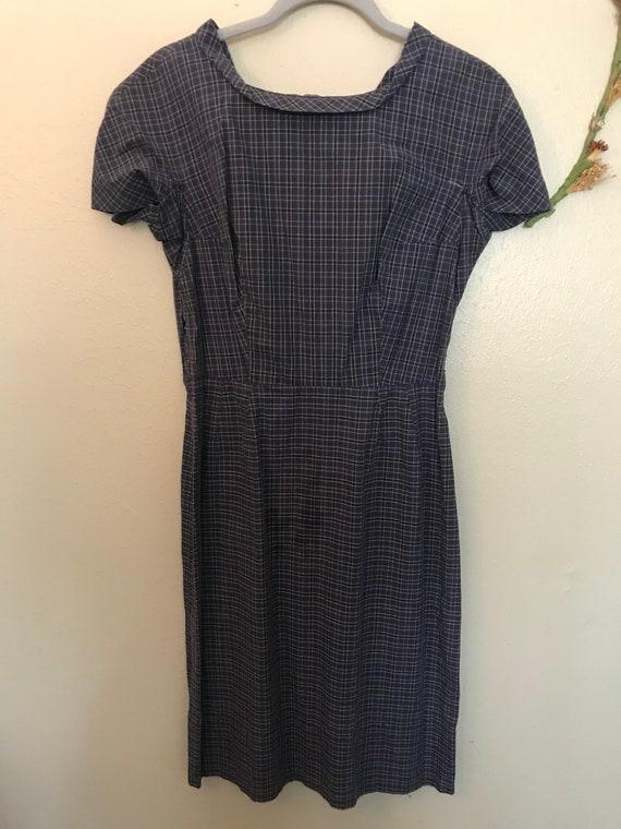 Scottish Cotton Labeled Vintage Two Piece Dress an